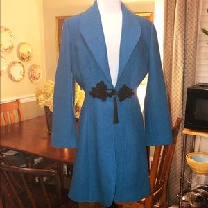 Soft Surroundings Turquoise Boiled wool coat - Med